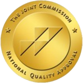 """The Joint Commission National Quality Approval"" sticker."